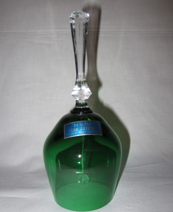Green Lead Crystal Bell