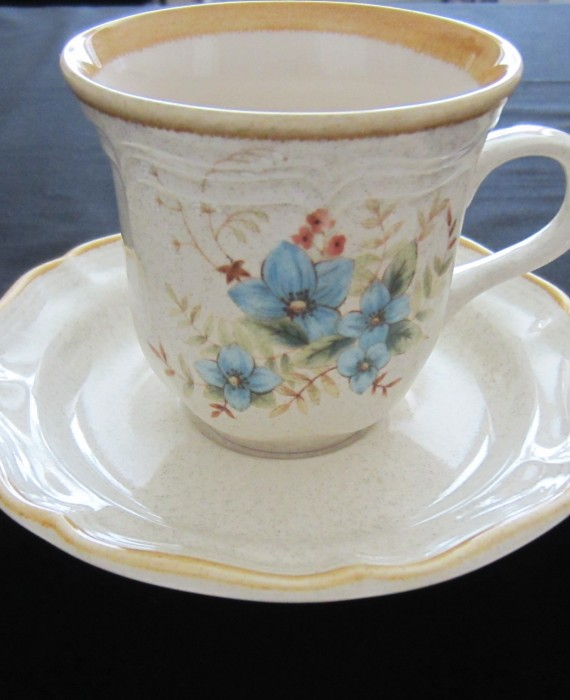 Mikasa Day Dreams EC461 Blue Floral Flowers Cup & Saucer