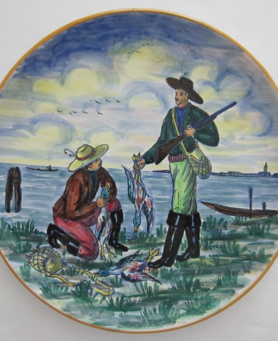 San Polo Venezia Pottery Hand Painted Plate from Italy