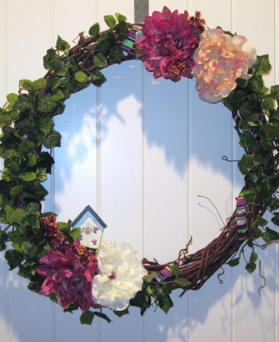 Welcome Spring - Peony Grapevine Wreath
