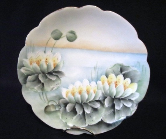 Bavaria Porcelain Lily Pad with Gold Trim Plate