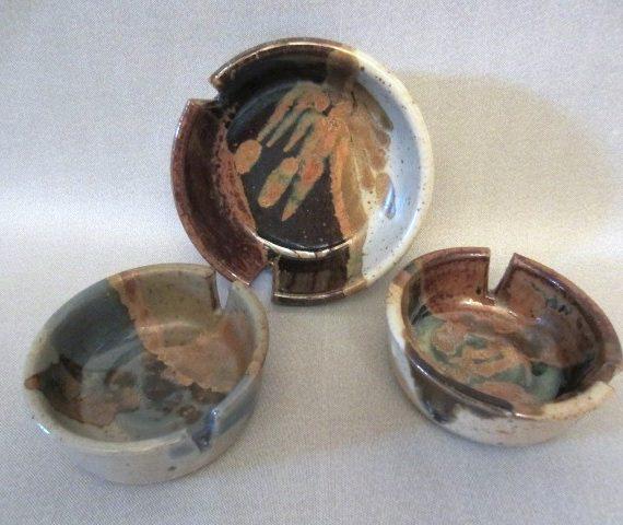 Vintage Pottery Ashtray's