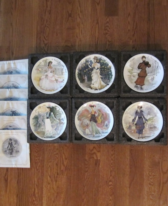 6 Limoges France Pretty Women of the Century Collector Plates Henri D'Arceau