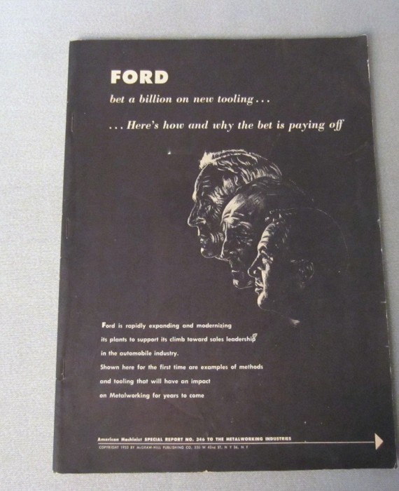 FORD Bet A Billion On New Tooling Book American Machinist