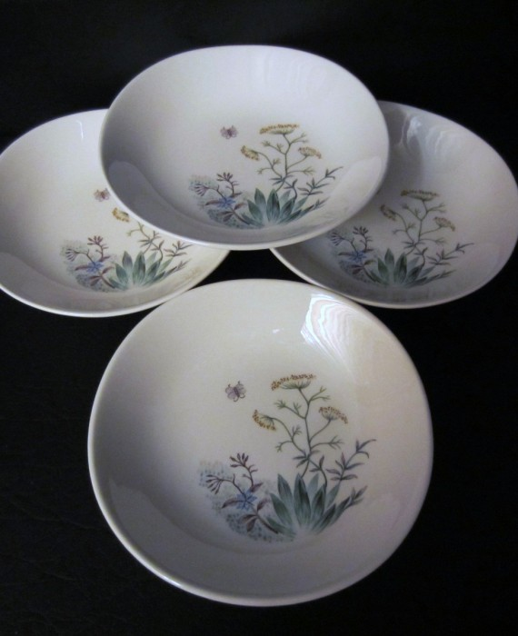 Crooksville Iva Lure Wildflower Fruit Bowls