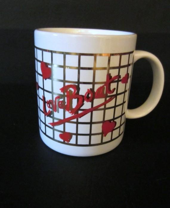 Love Boat Red Hearts Mug