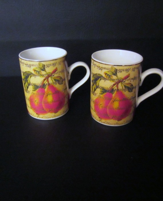 Dept 56 Pears & Apples Mugs