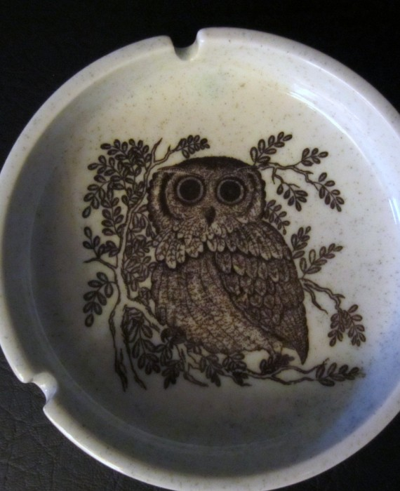 Otagiri Original Hand Crafted Owl Ashtray