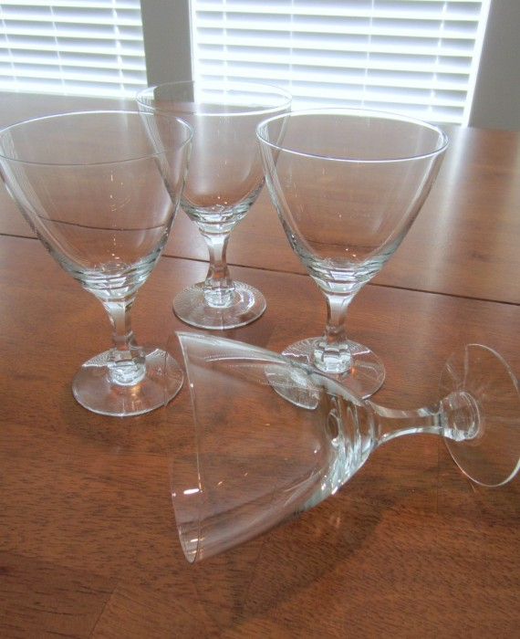 Rosenthal Crystal Wine Multi Sided Stem Glasses