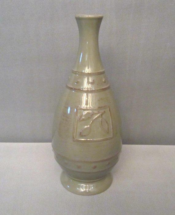 Olive Green Vase Bottle Sorrento Debby Segura Designs for Signature