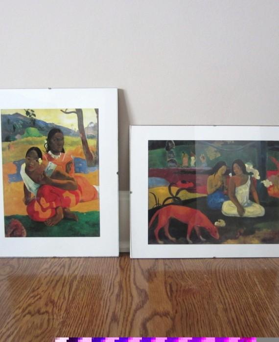 Paul Gauguin 1892 Prints Nafea Faaipoipo & Arearea Glass Framed