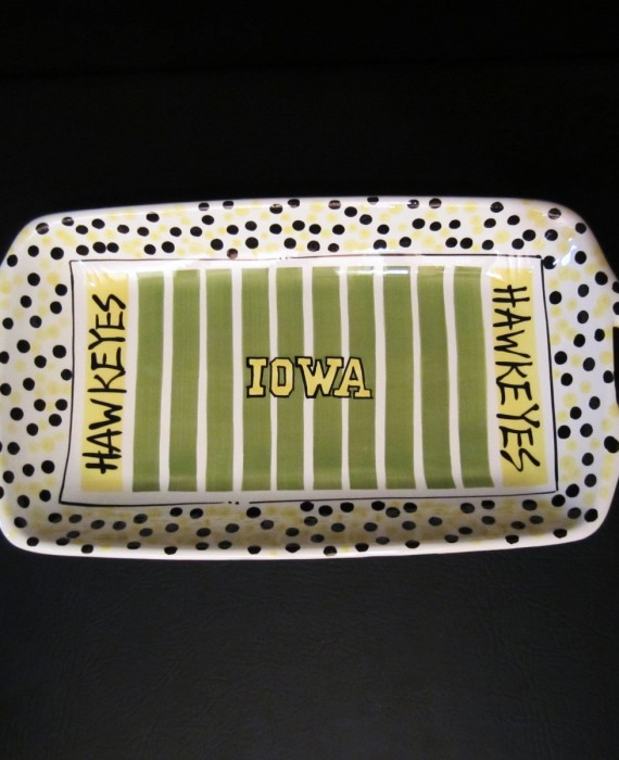 Magnolia Lane Iowa Hawkeyes Football Field Stadium Tray