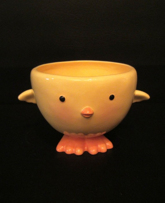 Hallmark Easter Yellow Chick Chicken Candy Nut Dish Soup Mug Bowl