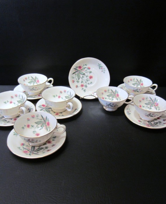 Lenox USA Country Garden Cups Saucers 7 Cups & Saucer Sets