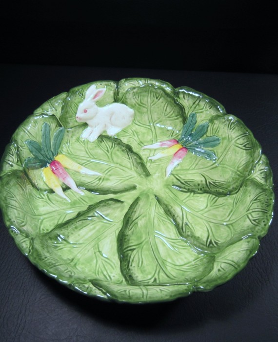 Bunny Lane Strata Group Bunny Rabbit Centerpiece Bowl Plate