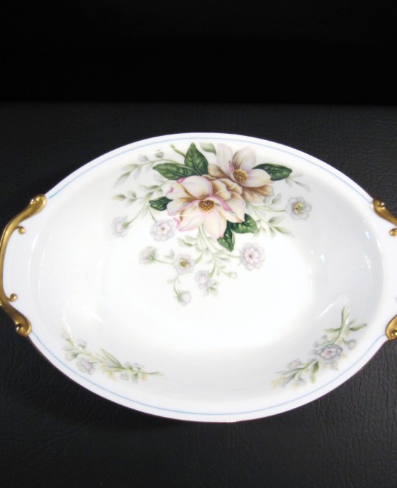 Grace China Rochelle Magnolia Occupied Japan Oval Serving Bowl