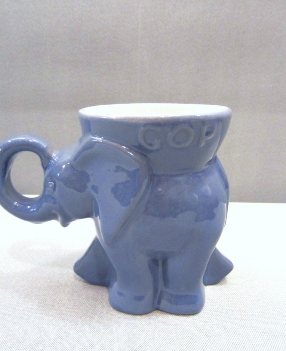 Frankoma 1970 Republican GOP Blue Elephant Mug