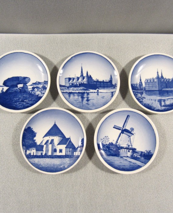 Royal Copenhagen Denmark Small Round Collector Plates