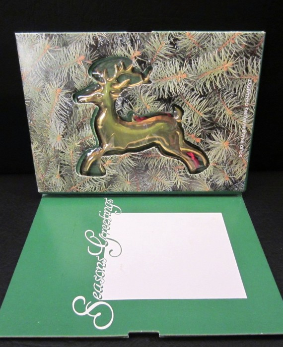 Dept 56 Reindeer Solid Brass Hanging Ornament