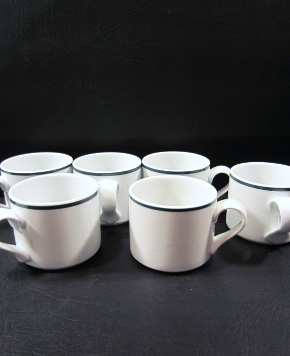 Dansk Bistro Christianshavn Green Stripe Portugal Cups