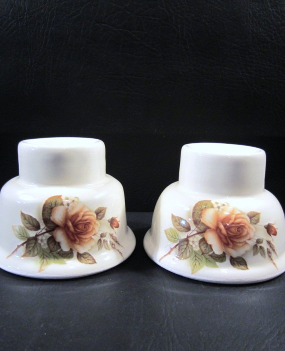 Lionstone Rose Floral Hurricane Candle Lamp Bases