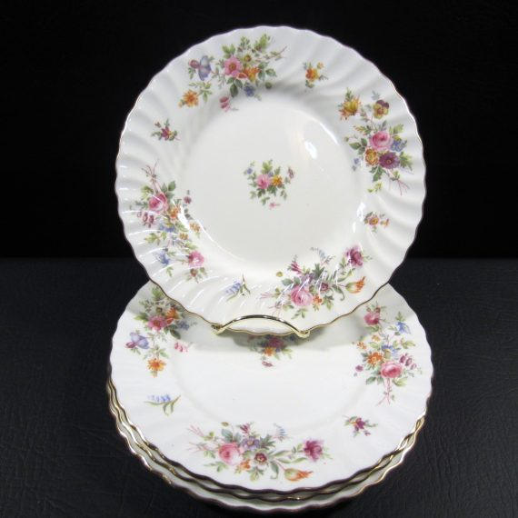 Minton Marlow S 309 Floral Scalloped Salad Plates