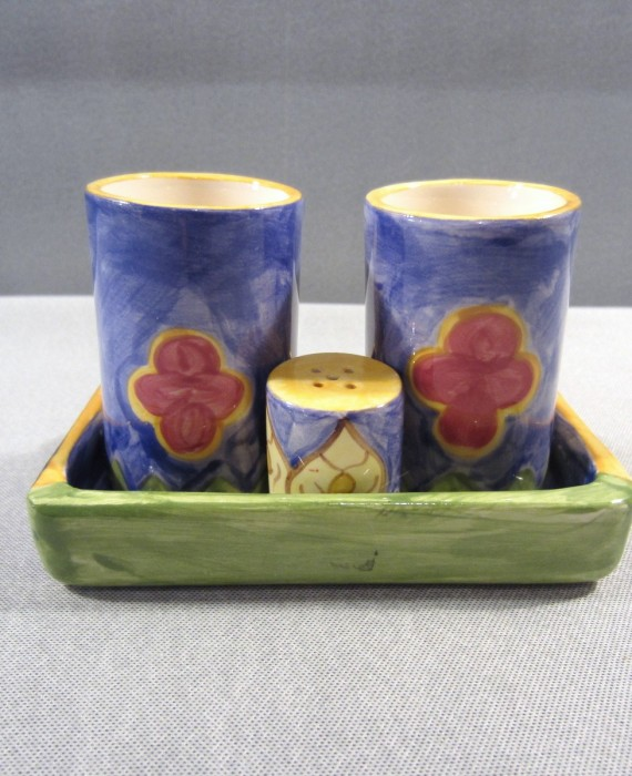 Tequila Shot Glass 4 Pc Set Hand Painted Bright Pintado a Mano Mexico