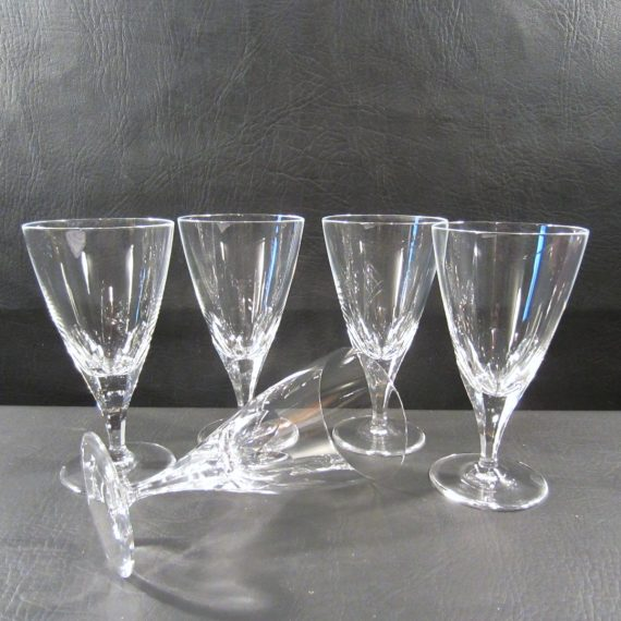 Josair JOS20 Crystal Cut Panels Thumbprint Water Goblets
