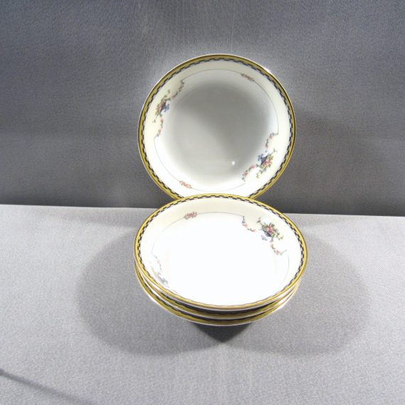 Noritake Rosemary 71629 Urns Garland Flowers Yellow Black Berry Sauce Bowls