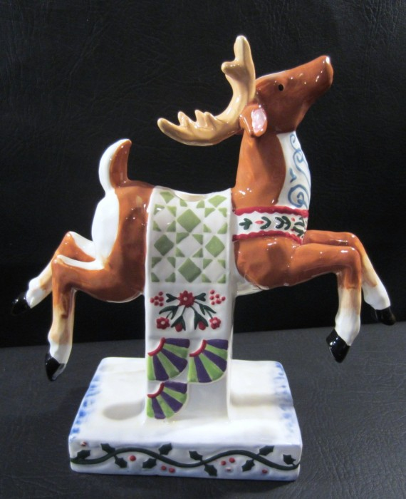 Jim Shore Holiday Traditions Christmas Reindeer Candle Holder