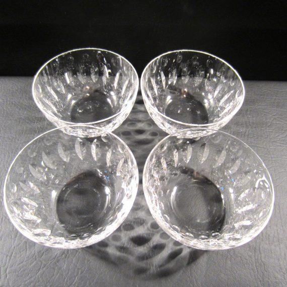Elegant Tiffin Franciscan Devon 17440 Clear 4 1/2 Bowls (4)