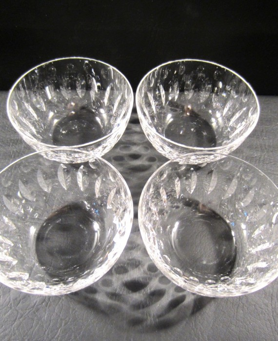 Elegant Tiffin Franciscan Devon 17440 Clear 4 1/2 Bowls (4)