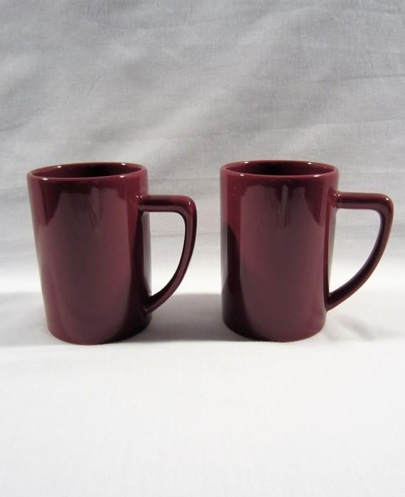 Waechtersbach Germany Burgundy Tall Mugs