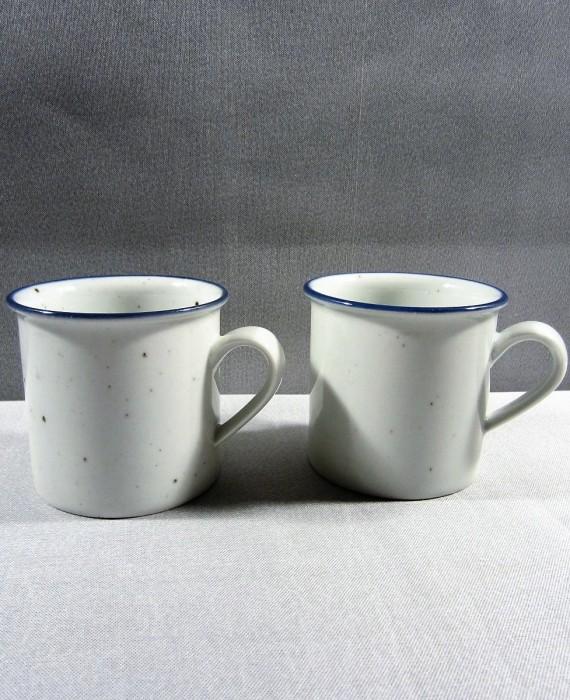 Dansk Denmark Speckled Blue Cups Mugs