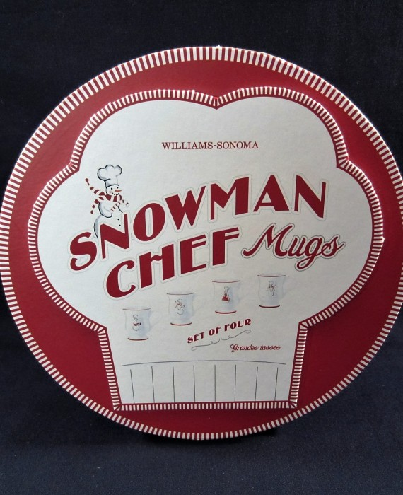 Williams Sonoma Snowman Chef Mugs