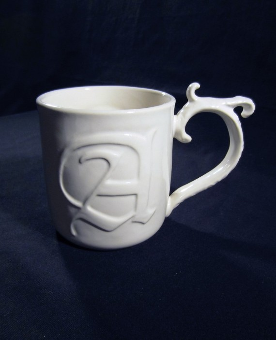 Pottery Barn A-Z Monogram A Coffee Mug