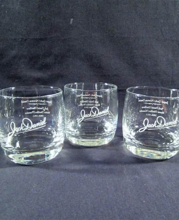Jack Daniel's Master Distiller 1866 – 1911  Round Lowball Rocks Glasses