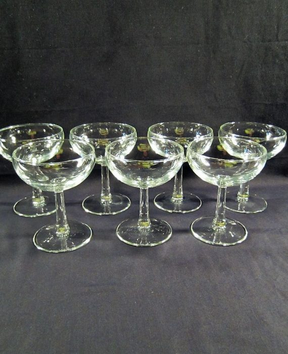 Coupes by Cristal D'Arques France Clear Champagne Sherbet Glasses