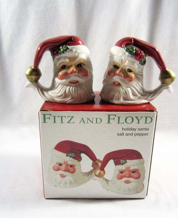 Fitz & Floyd Essentials Holiday Santa Salt & Pepper Shakers