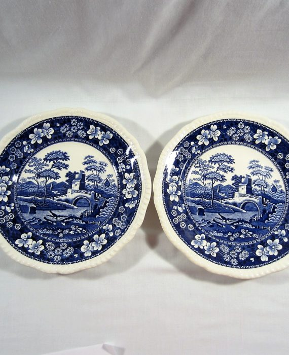 Copeland Spode Tower England NEW Mark Blue Luncheon Plates