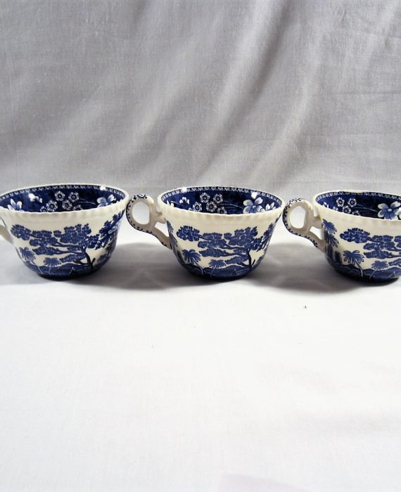 Copeland Spode Tower England NEW Mark Blue Cups