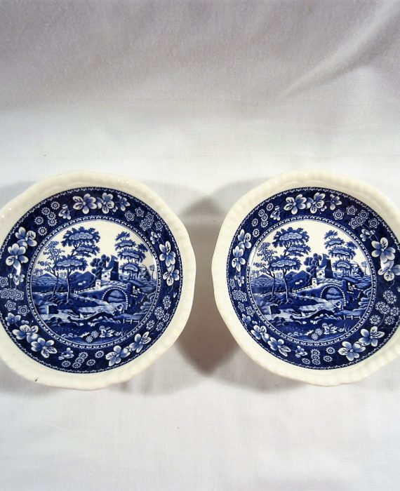Copeland Spode Tower England NEW Mark Blue Coupe Cereal Bowls
