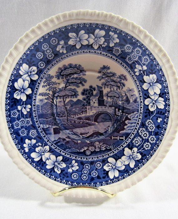 Copeland Spode Tower England NEW Mark Blue Oversized Saucer