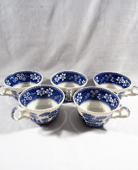 Copeland Spode Tower England OLD Mark Blue 5 Cups