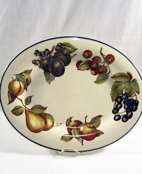 Pier 1 Macintosh England Angleterre Fruit Pattern Platter