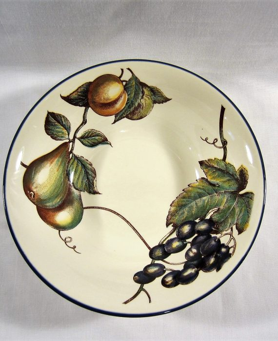 Pier 1 Macintosh England Angleterre Fruit Pattern Serving Bowl