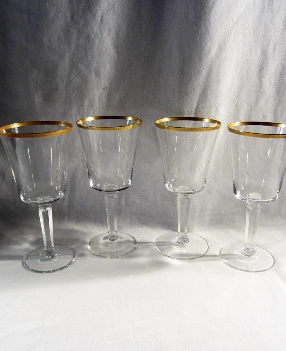 Lenox USA Crystal Eternal Gold Trim Barclay Shape Water Glasses