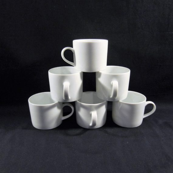 Crate & Barrel Bright White Flat Cups