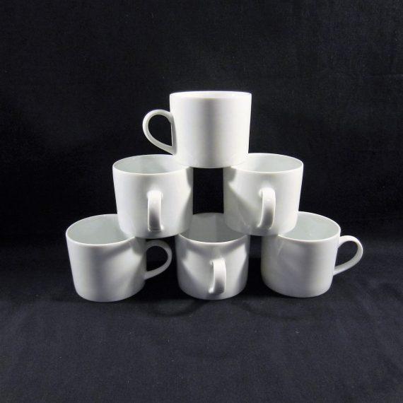 Crate & Barrel Bright White Flat Cups