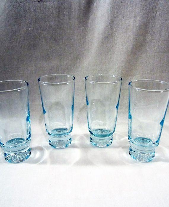 Duz Detergent Promo Blue Star Sapphire Blue Juice Glasses